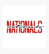 washington nationals team name font Photographic Print