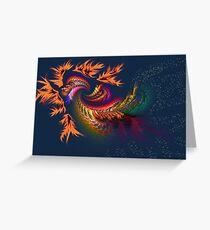 Dragon abstract fractal Greeting Card