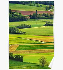 Rural colors of spring Poster