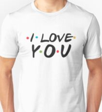 I Love You Logo - Funny Friends Logo Parody Sticker Shirt Pillow  T-Shirt