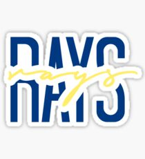 tampa bay rays team name font Sticker