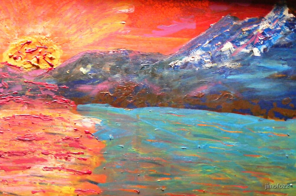 Hot sun Cold mountain by jimofozz
