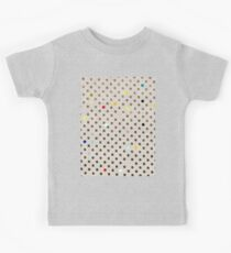 Old Beige Magic Polka Dots Rustic Grey and Black Kids Tee