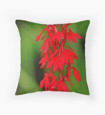 Scarlet Lobelia Throw Pillow