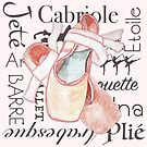 Ballet Toe Shoes Art Dance Moves Wording by ClarasDesk