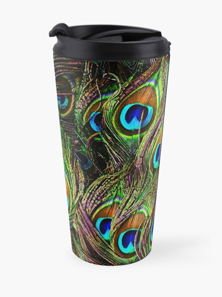 Alternate view of Peacock Feathers Invasion Travel Mug