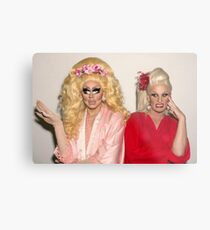 Trixie Mattel and Katya Metal Print