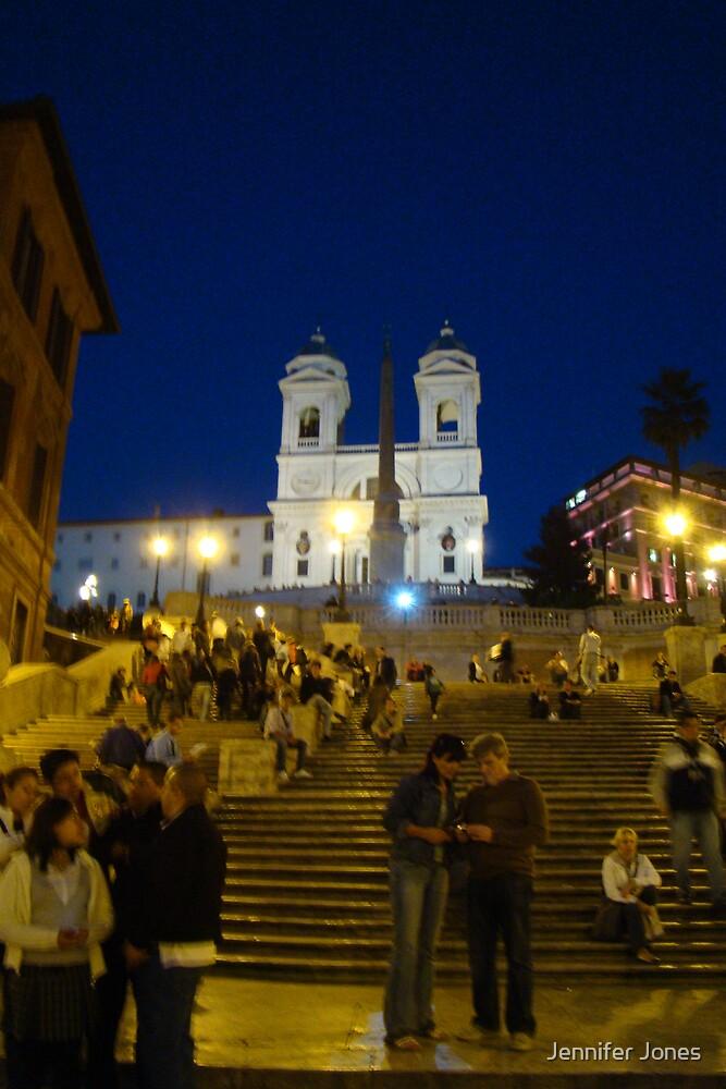 Spanish Steps at Night by Jennifer Jones