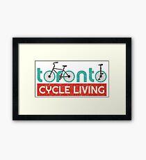 Toronto Cycling Life (vintage look) Framed Print