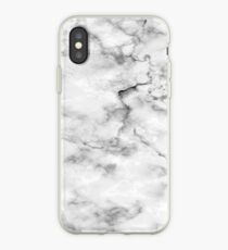 Black And White Marble Pattern - Cool Bright Granite Design iPhone Case