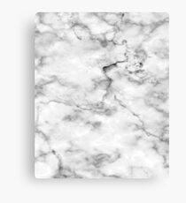 Black And White Marble Pattern - Cool Bright Granite Design Canvas Print