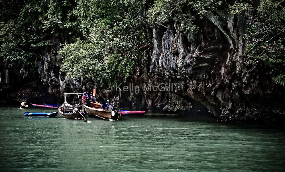 Fishermen, Ao Phang Nga Thailand by Kelly McGill