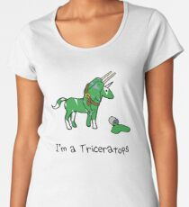 I'm A Triceratops (Unicorn + Narwhals) Women's Premium T-Shirt