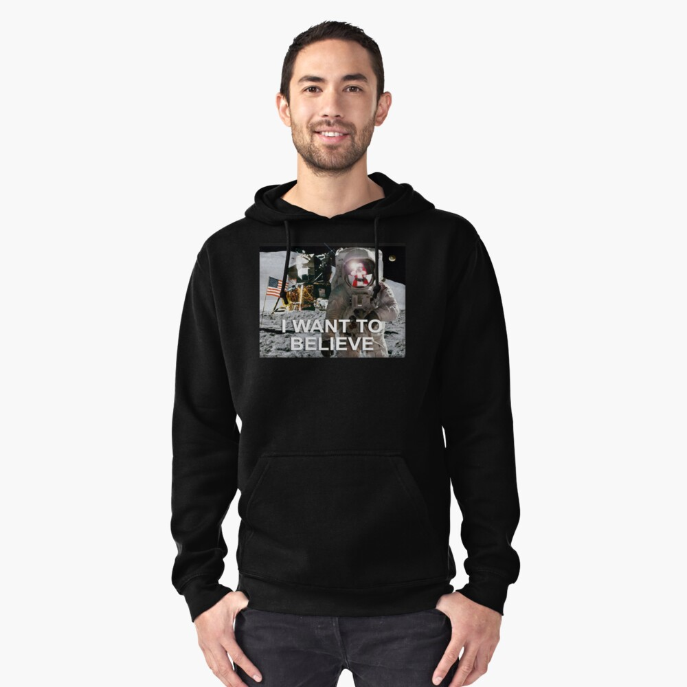 I Want To Believe Pullover Hoodie Front