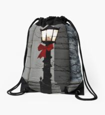 City Street Lights Drawstring Bag