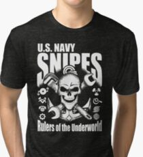 United States Navy Pit Snipes Design Vintage T-Shirt