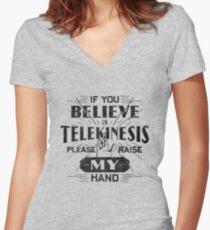Telekinesis - Geek, nerd shirt - Peter Parker Shirt, Spiderman Homecoming Shirt Women's Fitted V-Neck T-Shirt