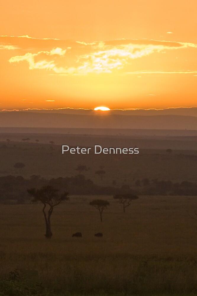 Masai Sunrise by Peter Denness