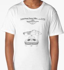 Corvette Stingray Patent Print Long T-Shirt