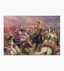 Charge of The Heavy Brigade Waterloo 1815 Photographic Print