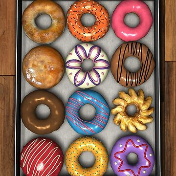 Box of Doughnuts by BonniePhantasm