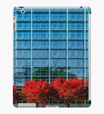European Parliament in Strasbourg, autumnal view with red trees, France iPad Case/Skin