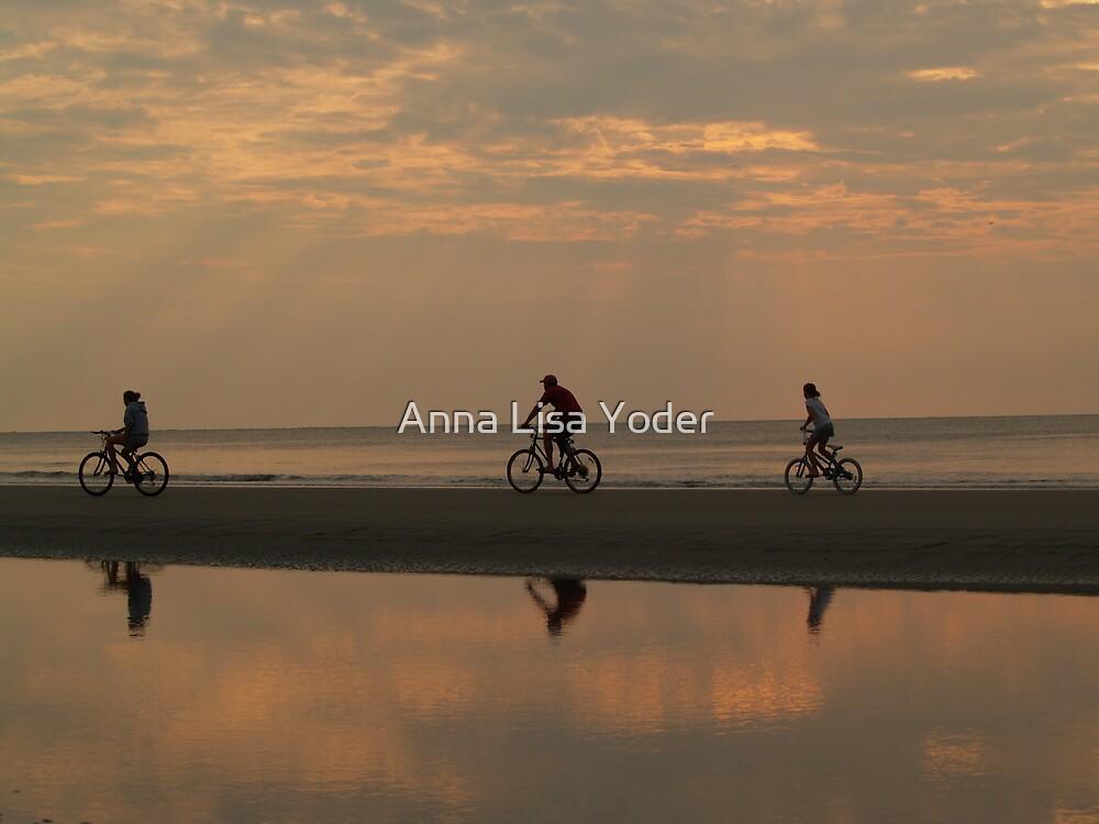 Bicycling at Dawn, Hunting Island by Anna Lisa Yoder