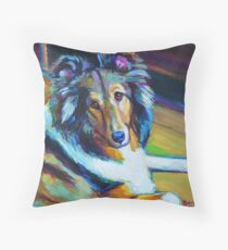 Colorful SHELTIE Throw Pillow