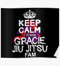 Keep Calm I Know gracie jiu jitsu Fam Poster