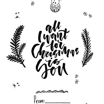 All I Want for Christmas is you de rubenhoyu