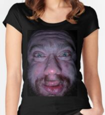 Sam Hyde - He Cant Keep Getting Away With It - MDE Merch / Shirt Women's Fitted Scoop T-Shirt