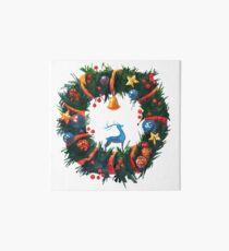 Christmas Wreath with a Deer  Art Board