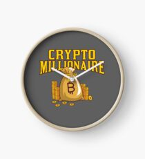 Bitcoin Millionaire Crypto Shirt | Cryptocurrency Hoodie | Bitcoin Shirts | Crypto Apparel | HODL Shirt | Funny Crypto Clothing | Ethereum T Shirt | Bitcoin Swag Clock