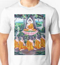 buddhism meditation drawing T-Shirt