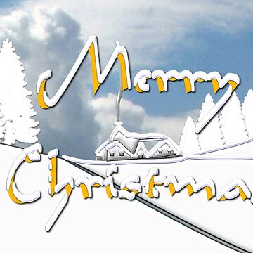 Merry Christmas from a Snowy Countryside by ZipaC