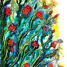 Rambling Roses Flowers by Linda Callaghan