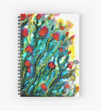 Rambling Roses Flowers Spiral Notebook