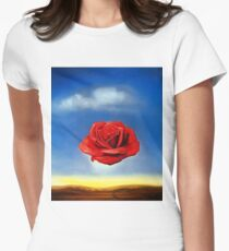 The Meditative Rose-Salvador Dali Women's Fitted T-Shirt