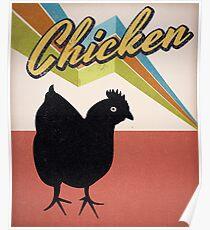vintage chicken - retro chicken Poster