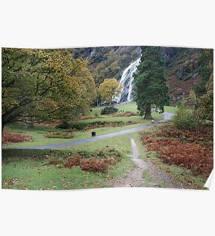 Powerscourt waterfall Poster