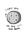 I love you to the moon and back by Luxette