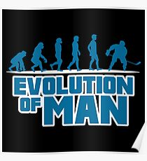 ICE HOCKEY: EVOLUTION OF MAN Poster