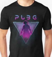 PUBG (Playerunknown's Battlegrounds) 80s Retro Unisex T-Shirt