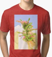 Pink Background. Tri-blend T-Shirt