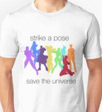 Camiseta ajustada JJBA: ¡Huelga una pose, salva al UNIVERSO!