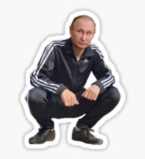 Pegatina Putin Gopnik