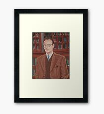 Rupert Giles in his natural habitat Framed Print