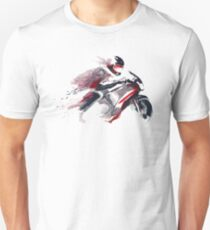Motorcycle speed through space Slim Fit T-Shirt