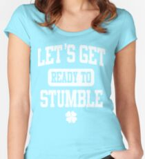 Funny St. Patrick's Day Womens American Apparel Shirt - Let's Get Ready To Stumble Women's Fitted Scoop T-Shirt