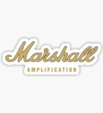Marshall Amp Gold Sticker